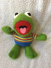 Vtg 1983 MUPPET BABIES Muppets HASBRO Softies Plush Stuffed KERMIT THE FROG EUC