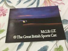 MG MGB GT 1971-72 UK Market Sales Brochure