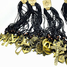 10 Pieces Mix Styles Retro Copper Pendant Rope Necklaces Fashion Jewellery