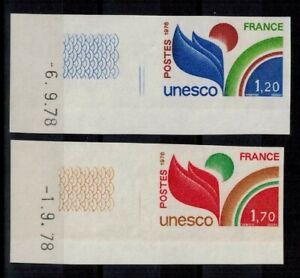 """(a34) timbres de service France n° 56/57 neufs** année 1978 """"non dentelés"""""""