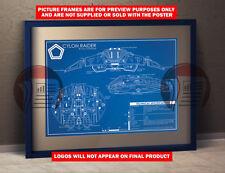 Battlestar Galactica Cylon Raider  Blueprint Schematic - A3 Poster