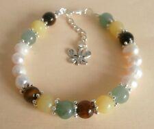 Gemstone Crystal Healing Abundance Money Luck Success Bracelet Gift Bag