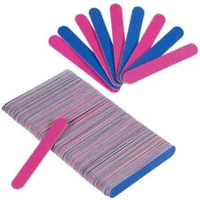 100Pcs Disposable Nail File Double Sided Emery Boards Pedicure Manicure Tool US