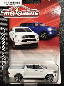 Majorette Pickup Series 3 Toyota Hilux White