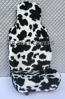 i - TO FIT A MINI COOPER CAR, SEAT COVERS, 2 FRONTS, COW FAUX FUR