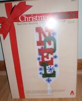 "VINTAGE 1978 CARON CHRISTMAS NOEL DOOR HANGING  LATCH HOOK KIT 13"" X 36"" NEW"