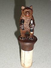 ancien bouchon ours en bois sculpté foret noire BLACK FOREST BEAR BARMAN