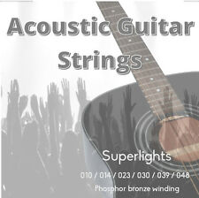 Guitarra Acústica Cuerdas Super Lights 10 - 48