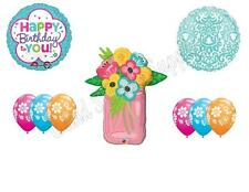 MASON JAR & FLOWERS Birthday Party Balloons Decoration Supplies Canning Mom