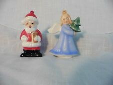 Vintage Porcelain Goebel West Germany Angel 79' & Santa 78' Ornaments
