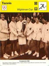FICHE CARD Wightman Cup 1968 Photo Equipe GB Christine Janes V.Wade TENNIS 1970s