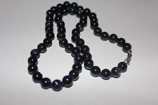 Blaufluss (syn.) Halskette ca. 8 mm / ca. 48 cm, einzeln verknotet