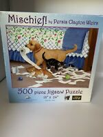 500 piece jigsaw Puzzle Mischief Cats Dogs  Sunsout new sealed Suns Out