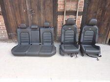 VW Golf VII 7 R Leder Sitze Lederausstattung Ausstattung Sitz Schwarz Vollleder