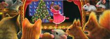 ACEO CHRISTMAS TREE CANDLES RED GRAY SQUIRRELS MICE CATS BALLERINA SNOW PAINTING