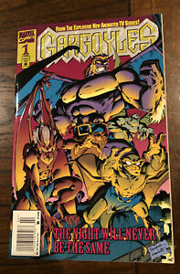 Gargoyles #1 Newsstand Embossed Cover Marvel Disney Tv 1st issue