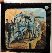 AMERICAN POST CIVIL WAR UNION ARTILLERY SOLDIERS MAGIC LANTERN GLASS SLIDE #26