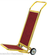 Gold/brass finish hotel lobby concierge luggage trolley cart truck