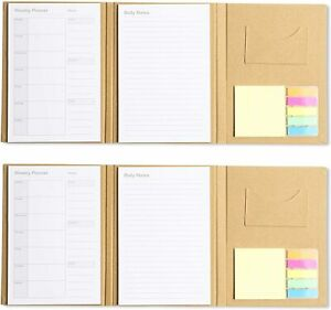 To Do List Notepad Daily Weekly Planner Notebook with Sticky Notes Pad (2 Pack)