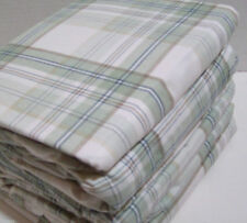 NEW! Cuddl Duds Flannel Sheets Set TWIN Sage Green Tan Plaid Cotton Warm Soft