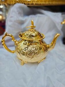 Moroccan Authentic Handmade Gold Teapot Big Size