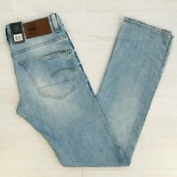 Men's G-Star 3301 Straight Fit Blue Jeans Size W31 L36