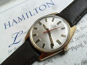 Original Clean Men's Vintage 1970's Hamilton Swiss Mechanical Watch Runs