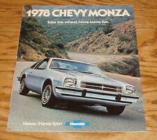 Original 1978 Chevrolet Monza Sales Brochure 78 Chevy 2+2 Sport Coupe 7/77