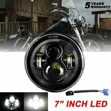 "7"" inch 300W LED Headlight Hi lo Black for Harley Honda Yamaha Ducati Motorcycle"