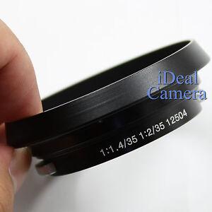 New Metal Lens Hood for Leica 12504 Summilux Summicron M 35mm 1:1.4 1:2 Lens