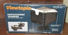 Viewtopia Photo to Video Transfer Pv-30 With Built in Flourescent Light Used Par