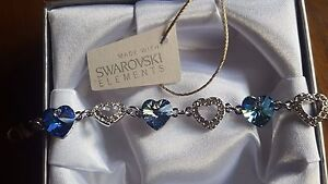 Gift Boxed Bracelet Made With Swarovski® Crystals- 5  colours to choose!