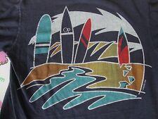 Vintage 80's OP Ocean Pacific surfing 1984 skateboard black T Shirt adult S