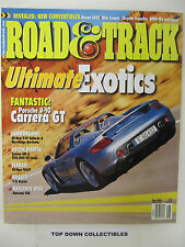 Road and Track Magazine  May  2003    Ultimate Exotics/Porsche V-10 Carrera GT