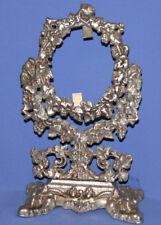 Vintage Ornate Floral Metal Desk Mirror Frame with Stand