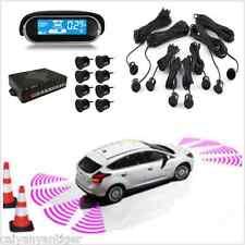 8×Parking Sensors Car Reverse Backup Front/Rear Radar Safety Buzzer Alarm LCD