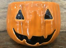Pottery Barn Jack O Lantern Halloween Bowl Serving Candy Dish Pumpkin  New