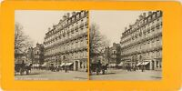 FRANCE Le Havre Rue Thiers, Photo Stereo Vintage Argentique PL62L10