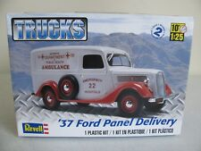 Revell Trucks 1/25 Scale 1937 Ford Panel Delivery Ambulance #4930 NIB
