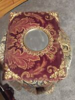 1800s Victorian Brammer Family Photo Album Tin Types Velvet Mirror Brass Clasp