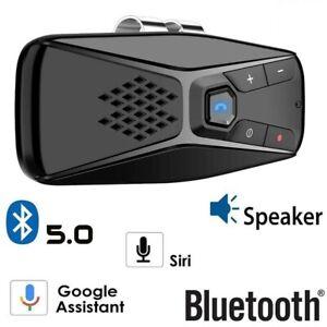 Vivavoce Bluetooth 5.0 Auto Siri Google Assistant Speaker Car Kit per Smartphone
