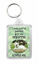 West Highland White Terrier/Westie Keyring Keyfob 'I May Not Be Perfect But...'