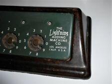 Vintage Lightning Ajouter Machine - Manuel Calculatrice Avec Bakélite Base 1946