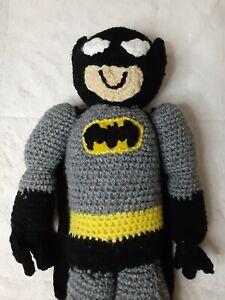 21in Handmade Crochet Batman Plush