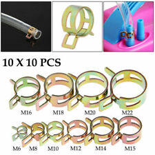 100 Pcs 6-22mm Spring Clip Fuel Line Hose Water Pipe Air Tube Clamps Fastener US