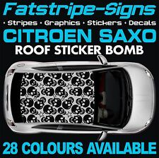 CITROEN SAXO GRAPHICS STICKER BOMB ROOF DECALS STICKERS STRIPES 1.6 VTR SKULL