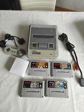 SNES - Super Nintendo Entertainment System inkl 4 Spielen und 1 Controller