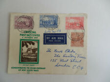 1937 Air Mail Australia Fdc / Sesqui-Centenary Of Nsw / Air Mail Late Fee Cancel