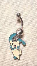 Minun  Pokemon  Belly Ring Navel Ring 14G Surgical Steel Dangle