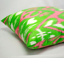 Silk ikat pillow cover accent pillows home decor home living modern pillow 18x18